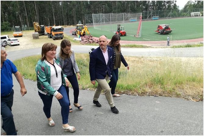 Inicio de las obras del nuevo campo de fútbol de Meaño